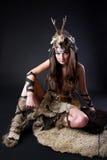 kvinnligstående viking Arkivbild