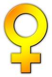 kvinnligsymbolen könsbestämmer Royaltyfri Foto