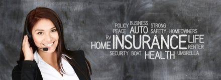 Kvinnligt försäkringmedel Arkivbild