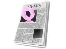 Kvinnligt genussymbol inom tidningen stock illustrationer