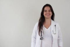 Kvinnligt le för doktor arkivbild