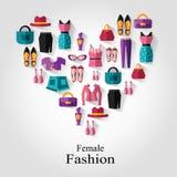 Kvinnligt modebegrepp Arkivbild