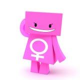 kvinnligtecken för tecken 3d Royaltyfri Foto