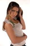 kvinnligturk för tillfälliga kläder Arkivfoto