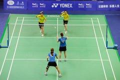 kvinnor 2011 för doubles s för asia badmintonmästerskap royaltyfria foton