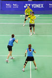 kvinnor 2011 för doubles s för asia badmintonmästerskap arkivfoton