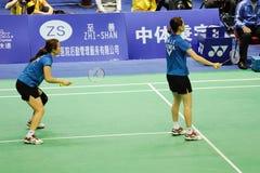 kvinnor 2011 för doubles s för asia badmintonmästerskap arkivfoto