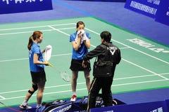 kvinnor 2011 för doubles s för asia badmintonmästerskap royaltyfri foto