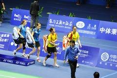 kvinnor 2011 för doubles s för asia badmintonmästerskap royaltyfria bilder
