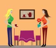 kvinnor royaltyfri illustrationer
