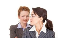 kvinnor för affärsstående två arkivfoto