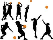 kvinnor för basket s Royaltyfria Bilder