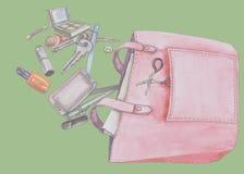 kvinnor för handväskor s Fotografering för Bildbyråer