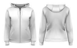kvinnor för hoodie s royaltyfri illustrationer