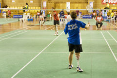 kvinnor för inaktiverade personer s för badminton Royaltyfri Fotografi