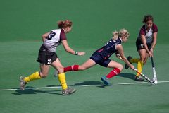 kvinnor för landhockey s Arkivbild
