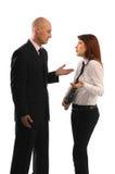 kvinnor för män för affärsmöte Arkivbilder