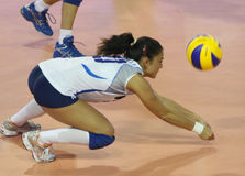 kvinnor för mästerskapfivbitaly s volleyboll Arkivfoton
