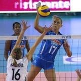 kvinnor för mästerskapfivbitaly s volleyboll Royaltyfria Foton