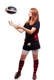 kvinnor för rugby s Fotografering för Bildbyråer