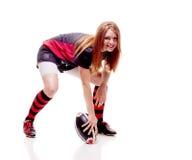 kvinnor för rugby s Arkivfoto