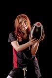 kvinnor för rugby s Arkivfoton