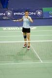 kvinnor för singlar för pi s för badminton hongyan Royaltyfri Foto
