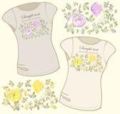 kvinnor för skjorta t för illustration s Arkivbild