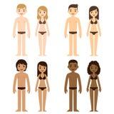 kvinnor för sky för män för blå familj för bakgrund lyckliga stock illustrationer