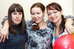 kvinnor för stående tre Fotografering för Bildbyråer