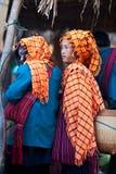 Kvinnor för stam Pa-o, Myanmar Royaltyfria Bilder