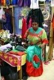 kvinnor för villa för marknadsport s vanuatu Arkivbilder