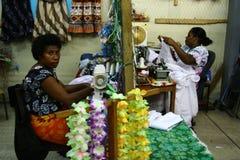 kvinnor för villa för marknadsport s vanuatu Arkivfoton