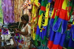 kvinnor för villa för marknadsport s vanuatu Arkivbild
