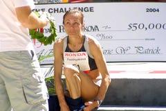 kvinnor för vinnare för maratonpozdnyakova s tatyana ukraine Arkivfoton