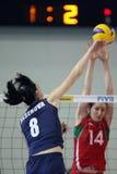 kvinnor för volleyboll för belarus mästerskapfivb s Arkivfoto