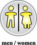 kvinnor för wc för manteckentoalett arkivfoto