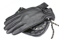 kvinnor för handskeläder s Arkivfoton