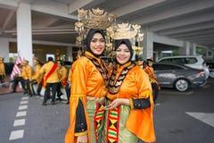 Kvinnor från den Bajau Sama folkgruppen av Borneo Fotografering för Bildbyråer