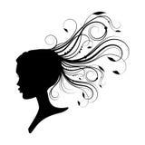 Kvinnor hade med lockigt hår Royaltyfri Bild