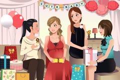 Kvinnor i ett baby showerparti Fotografering för Bildbyråer
