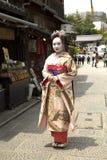Kvinnor i kimonon i Japan Arkivbild