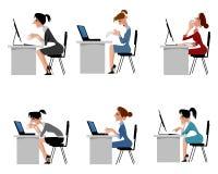 Kvinnor i regeringsställning vektor illustrationer