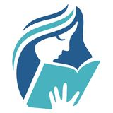 Kvinnor läste bokabstrakt begreppdesign Royaltyfri Bild
