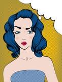 Kvinnor med blått hår Arkivfoton
