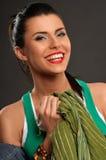 Kvinnor med toothy leende Arkivbilder