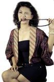 Kvinnor med traditionell kläder. Fotografering för Bildbyråer