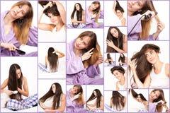 Kvinnor och deras hår Royaltyfria Bilder