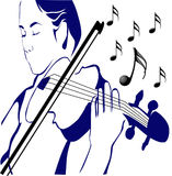 Kvinnor och musik Fotografering för Bildbyråer
