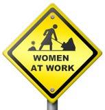 Kvinnor på arbete Arkivbild